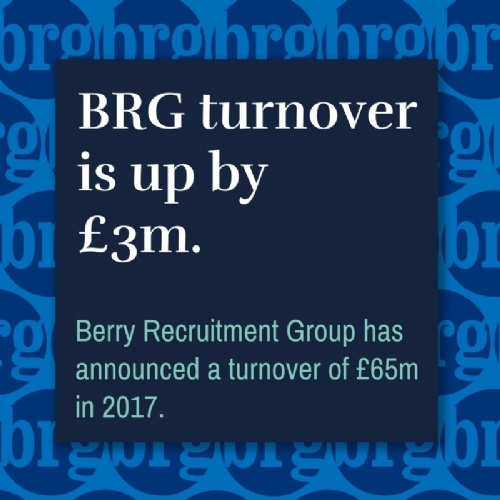BRG turnover is up by £3m